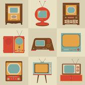 Retro vintage Tv set