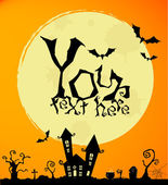 Vector halloween background for posters and cards