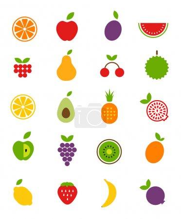 Illustration pour Icônes de fruits - image libre de droit