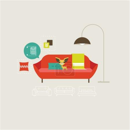 Vector sofa icons