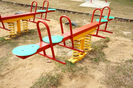 Photo for Children playground in park - Royalty Free Image