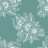 Seamless flower lace pattern