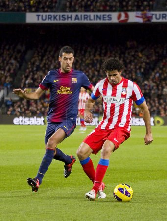 Busquets and Diego Costa