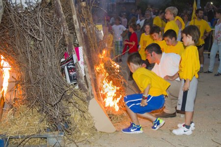 Bonfire during Festival of San Juan