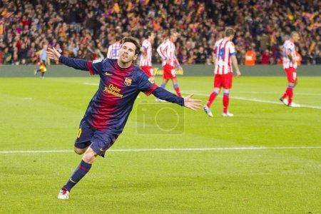 Lionel Messi celebrating a goal