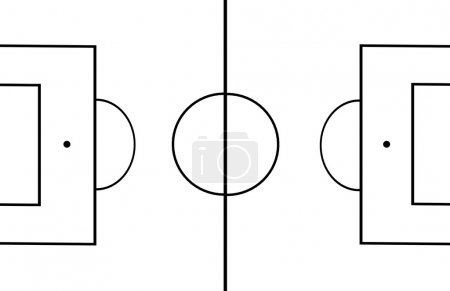 Photo for Football pitch draw. - Royalty Free Image