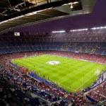 Panoramic view of Camp Nou stadium before the Cham...