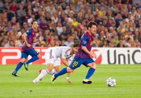 Lionel Messi in action