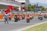 Moto GP starting grid