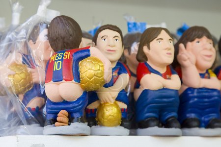 Caganers of Leo Messi at