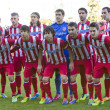 Atletico players posing for photos at Spanish Cup ...