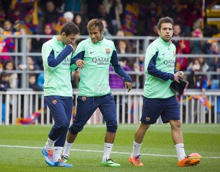 Тренировку Барселоны