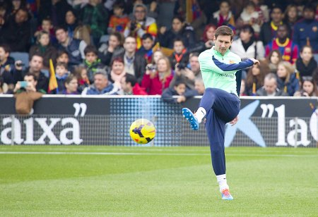 Messi at FC Barcelona training
