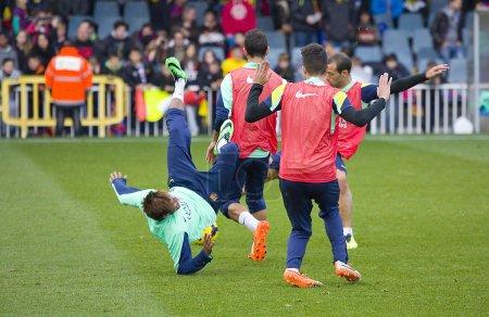 FC Barcelona training session