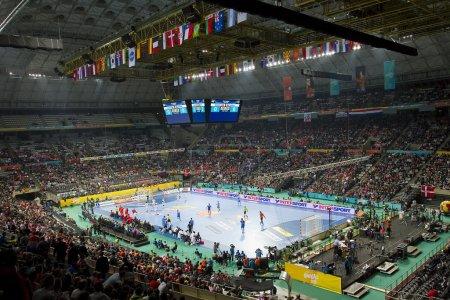 Handball match Denmark vs Croatia