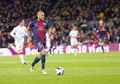Dani Alves of FC Barcelona