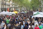 Sant jordi nap Katalóniában