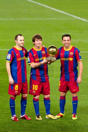 Messi with Golden Ball