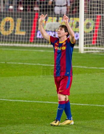 Messi celebrating a goal