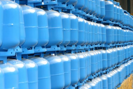 Gas cylinder storage for delivery...