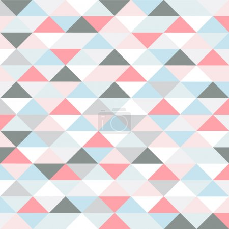 Retro pattern of geometric shapes. pastel colored triangles