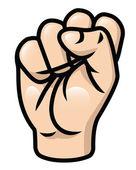 Illustration of a cartoon fist raised upwards