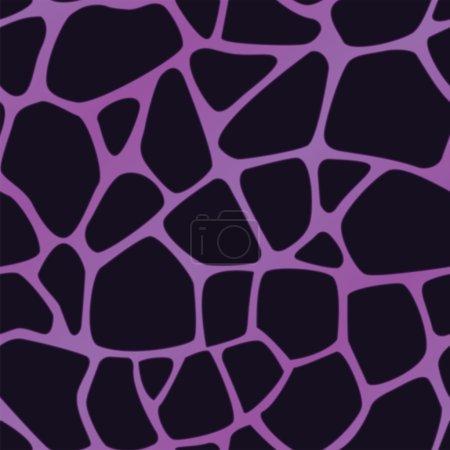 Violet Giraffe Print