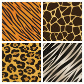 A collection of four different animal print backgrounds Seamlessly repeatable