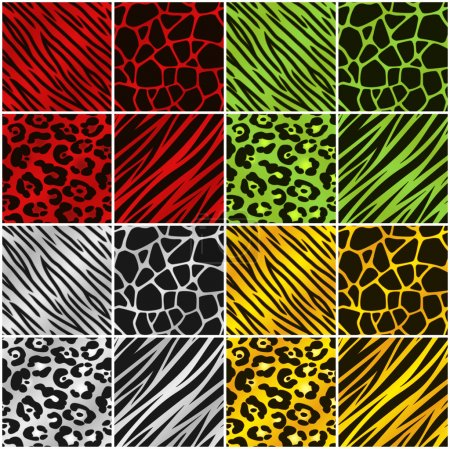 Holiday Color Animal Print Backgrounds