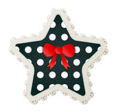 Star Shaped Polka Dot Sewing Patch