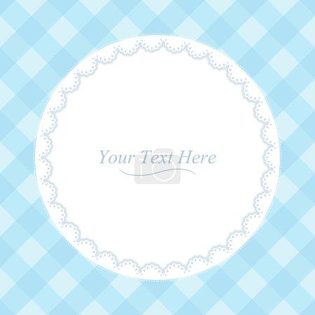 Round Blue Frame
