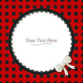 Round Ladybug Frame