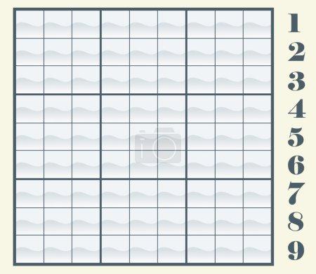 Sudoku scheme - Vector illustration
