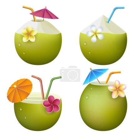 Exotic coconut cocktails