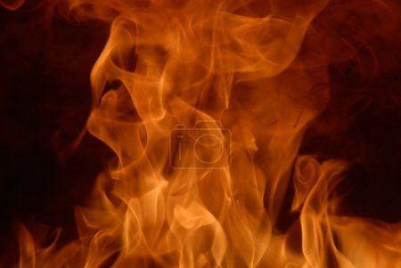 Foto de Fondo de llamas ardiendo alto - Imagen libre de derechos