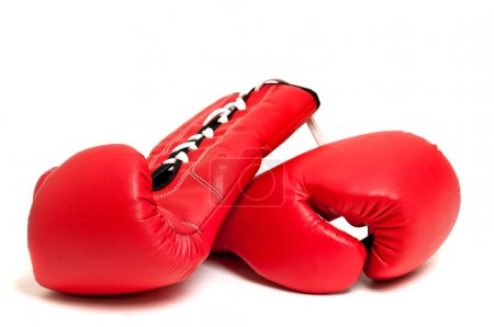 Photo for Boxing gloves against a white backgroud - Royalty Free Image