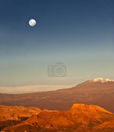 Full-moon in the Moon Valley, Atacama, Chile
