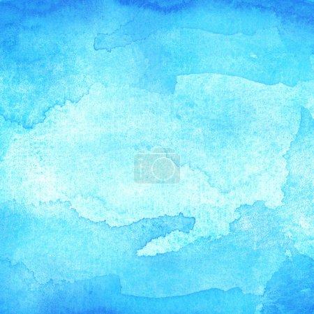 Photo pour Bleu abstrait aquarelle macro texture fond - image libre de droit