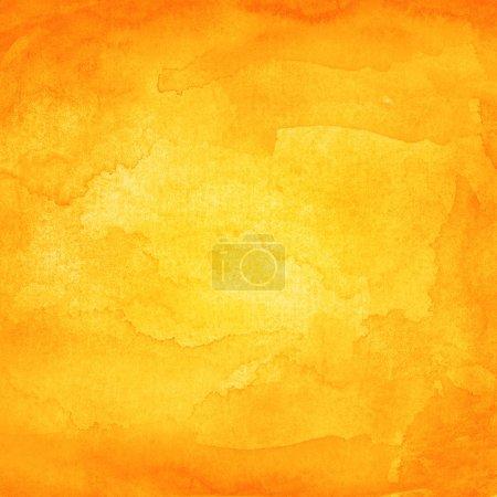 Watercolor texture orange background.