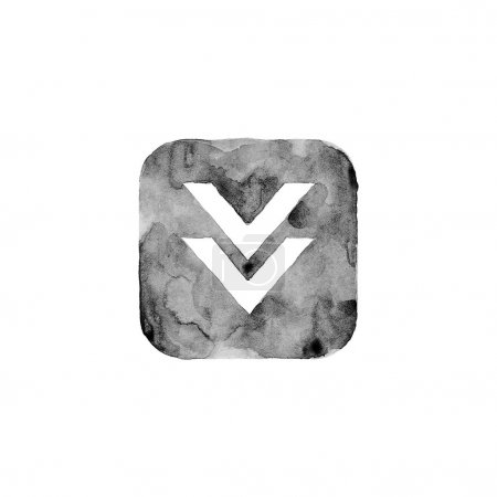 Download icon button with sign