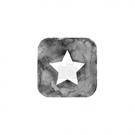 Star icon button with sign.