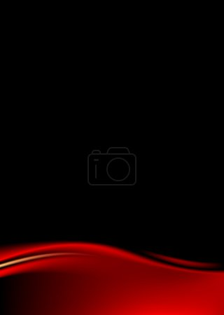 Red stage curtain on black background. Template paper size a4 vertical format. Luxury backdrop with wave strip in dark style. Empty space for text or sign. Vector illustration design element 8 eps