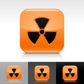 Oranžový lesklý web internet tlačítko znakem záření