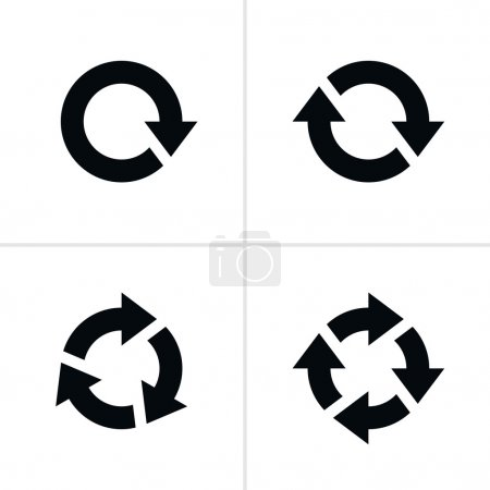 4 arrow pictogram refresh reload rotation loop sign set
