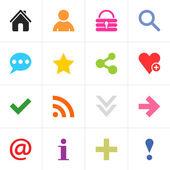 16 pictogram basic sign set