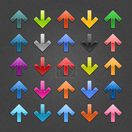 25 glossy arrow button