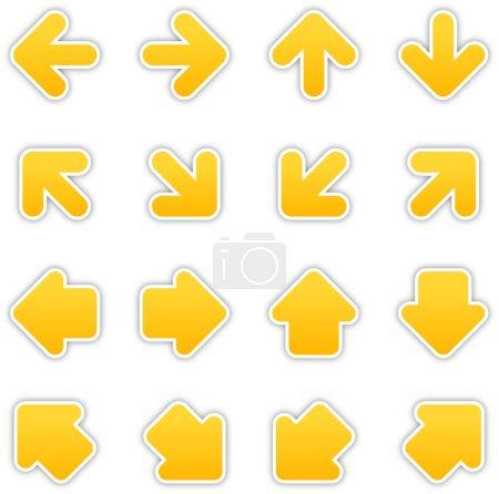 Yellow arrow sign sticker web button