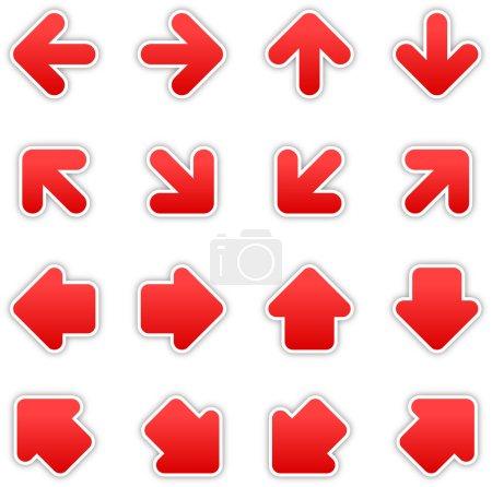 Red arrow sign sticker web button