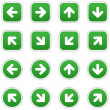 Dark green stickers with arrow sign. Circles and r...