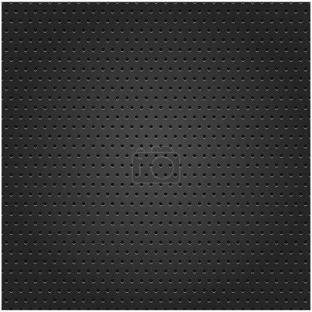 Seamless texture metal surface dotted perforated black background